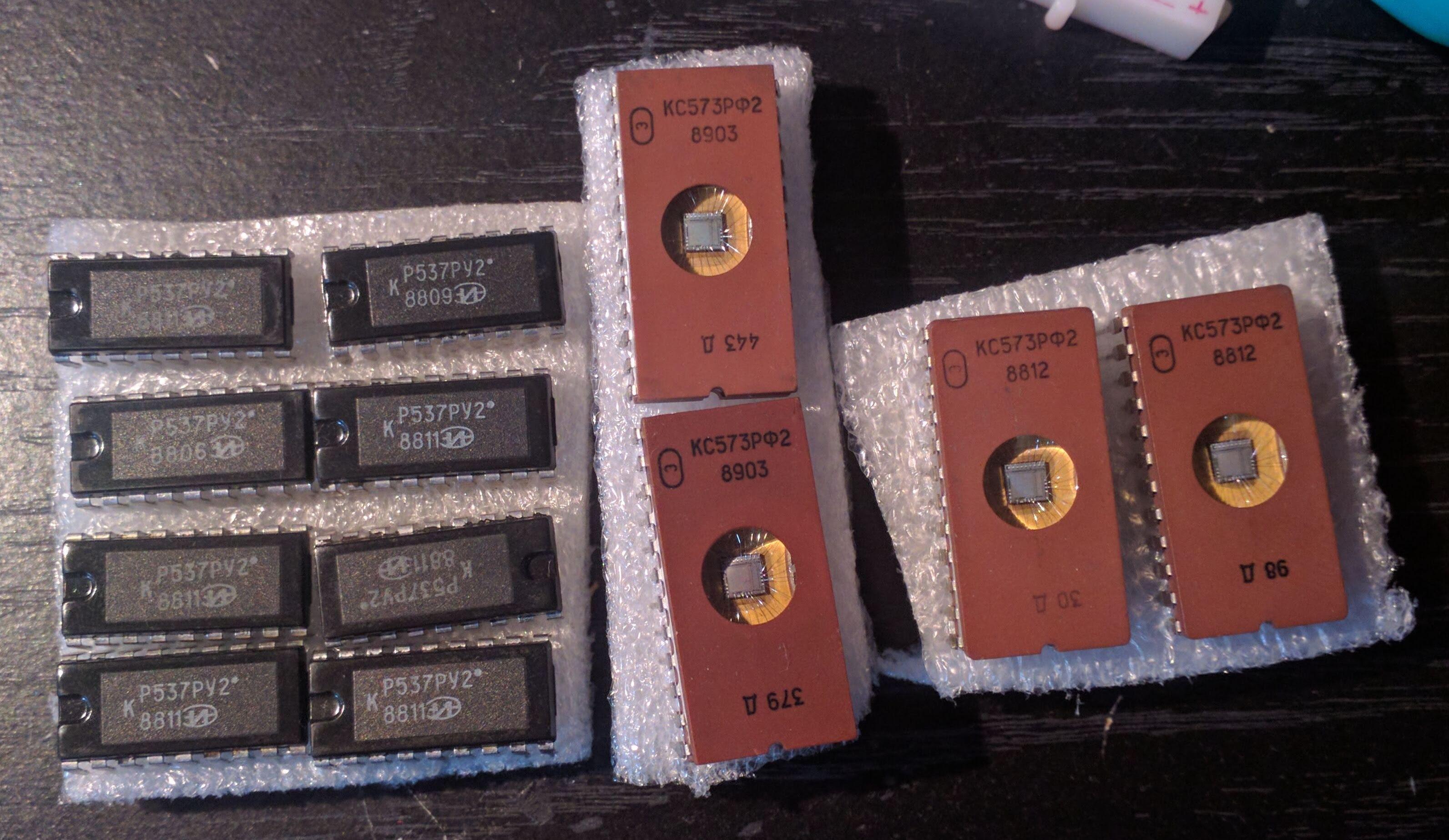 Soviet SRAM and EPROM chips