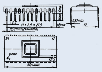 Note the 2.5 mm spacing between pins. <a href='https://eandc.ru/catalog/detail.php?ID=8247'>Source</a>